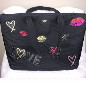 Victoria's secret runway sequin patch big tote bag